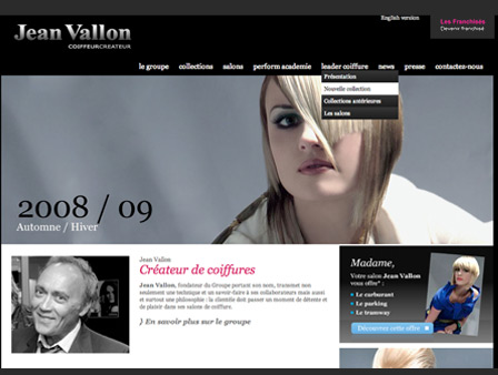 Site internet de la franchise Jean Vallon à Montpellier