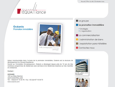 Site internet du holding financier